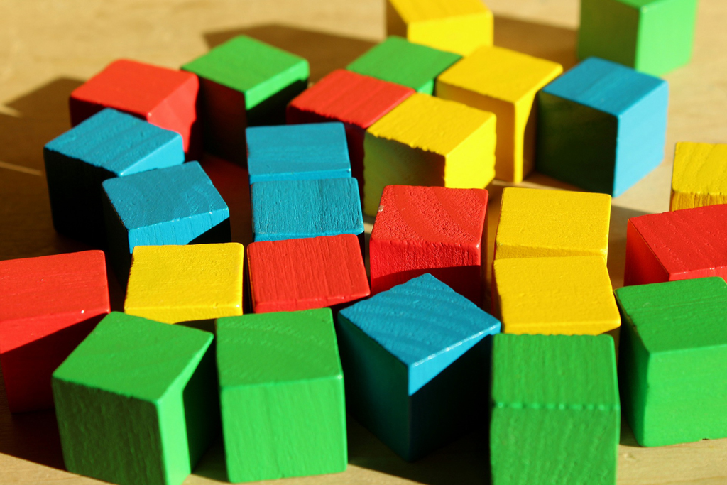 Multi-colored blocks